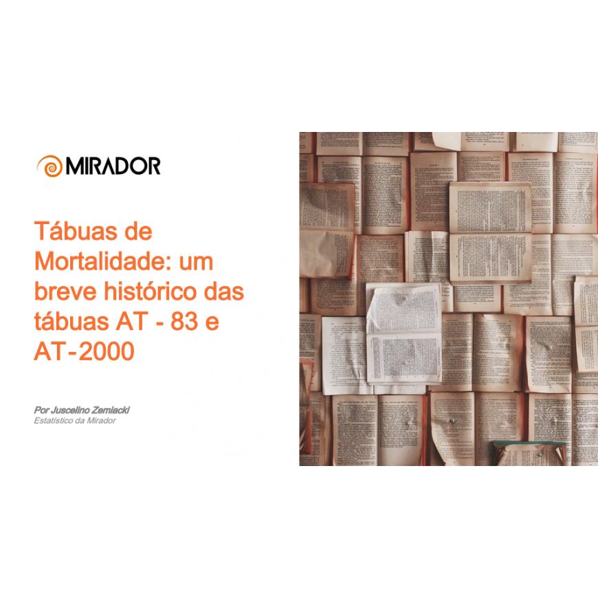 Novo E-book: Tábuas de mortalidade