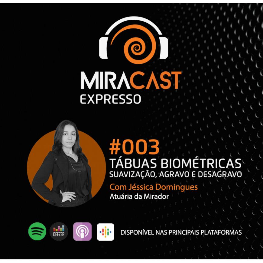 Miracast Expresso #003 - Tábuas biométricas: suavização, agravo e desagravo
