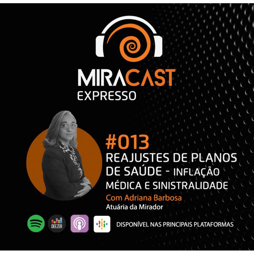 Miracast Expresso #013 - Reajustes de Planos de Saúde: Inflação médica e Sinistralidade